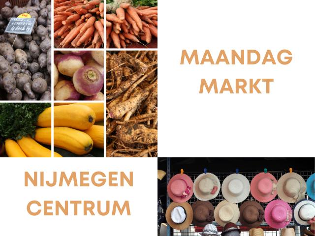 elke maandag is er markt in het centrum van nijmegen