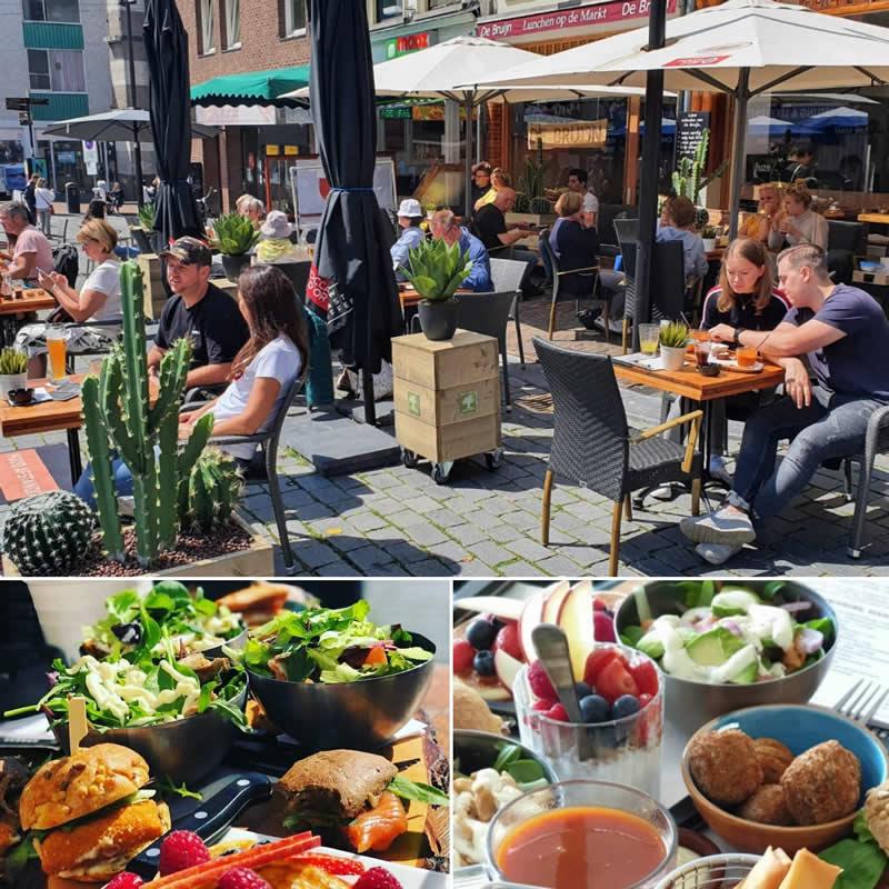 Lunchen op de Grote Markt in Nijmegen