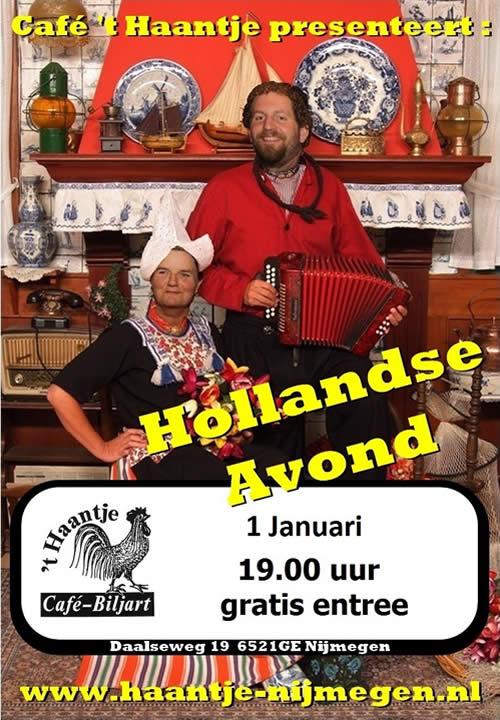 Hollandse Avond in Cafe 't Haantje